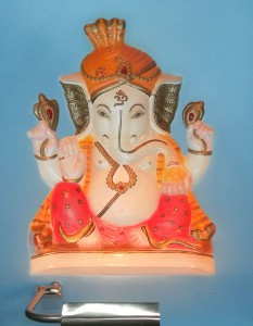 Baby Ganesha ABR Blue Panel Front Side