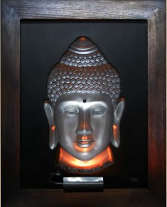 Buddha Silver Large Antique Wood Frame