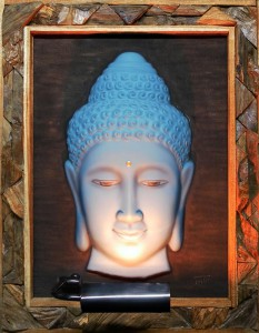 Buddha VDG Wood Frame Recycle