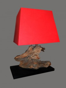 Table Lamp Teakwood Custom