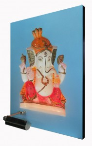 Baby Ganesha ABR Blue Panel Right Side