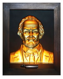 Abraham Lincoln Gold Antique Wood Frame