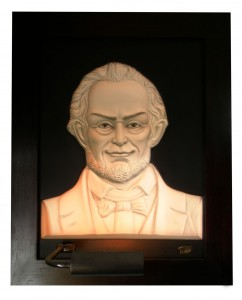 Abraham Lincoln Ivory Antique Wood Frame