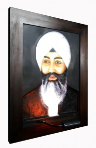 Babaji ABR Antique Wood Frame Left Side