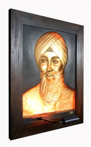 Babaji Gold Antique Wood Frame Left Side