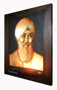 Babaji Gold Antique Wood Frame Right Side